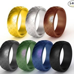 7 pack (Fish scale) Silicone Rings